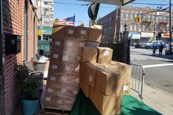 Distributed 300 Halal Food boxes today